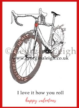 Cycling Valentines Card